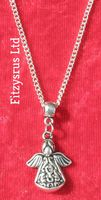 "18"" 24"" Inch Chain Necklace & Holy Angel Pendant Religious Charm - Brand New"